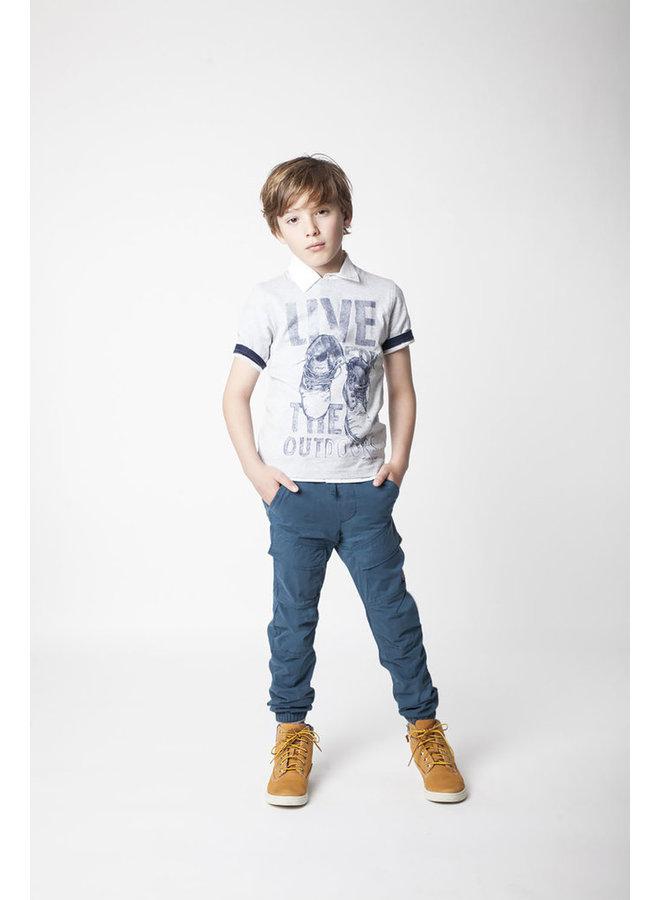 ´Timberland T-Shirt Schuhprint grau