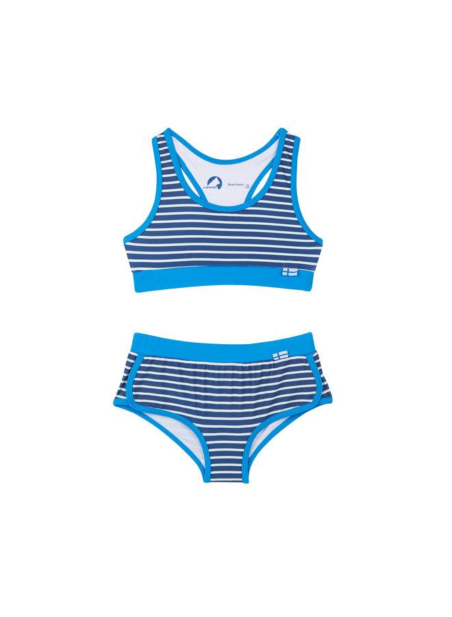 Finkid Bikini blau weiß gestreift