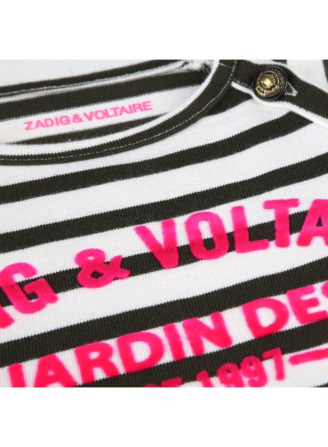 Zadig & Voltaire Kleid khaki creme pink