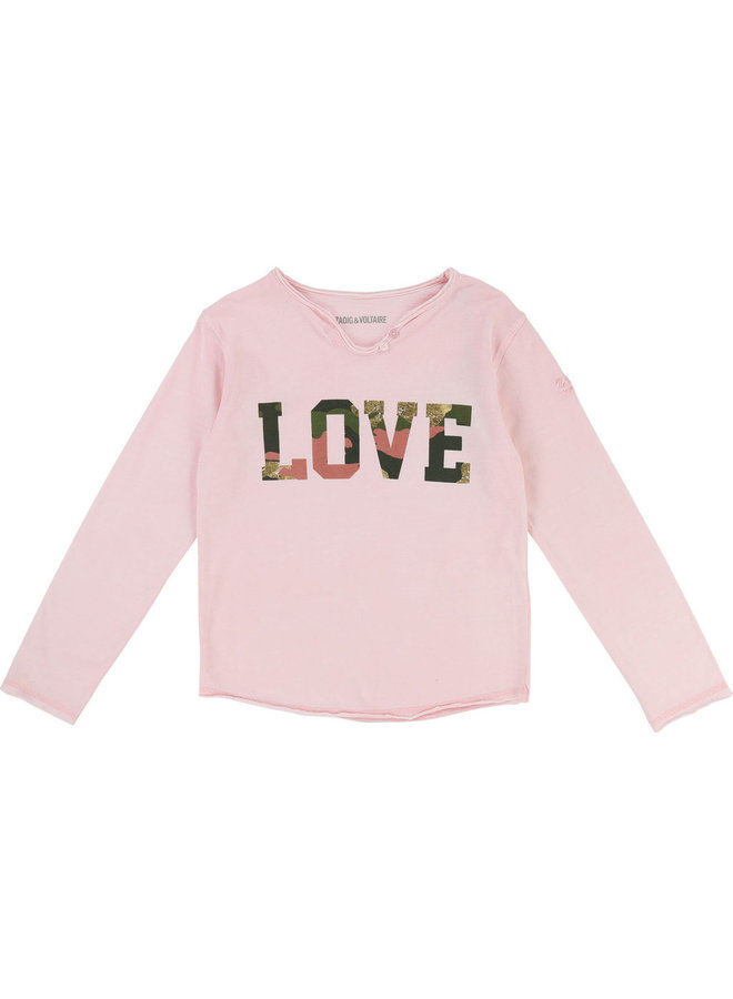 Zadig & Voltaire Longsleeve Love Camouflage Print