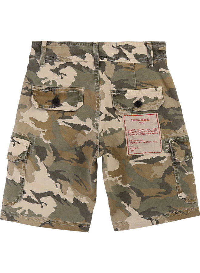 Zadig & Voltaire Bermuda Shorts Camouflage khaki