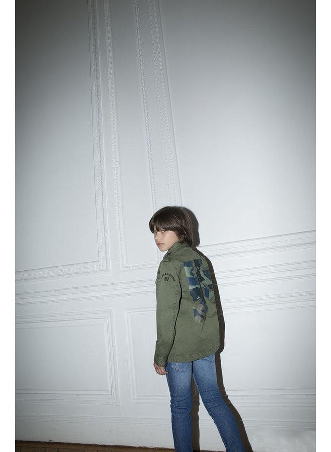 Zadig & Voltaire Hemd khaki Camouflage