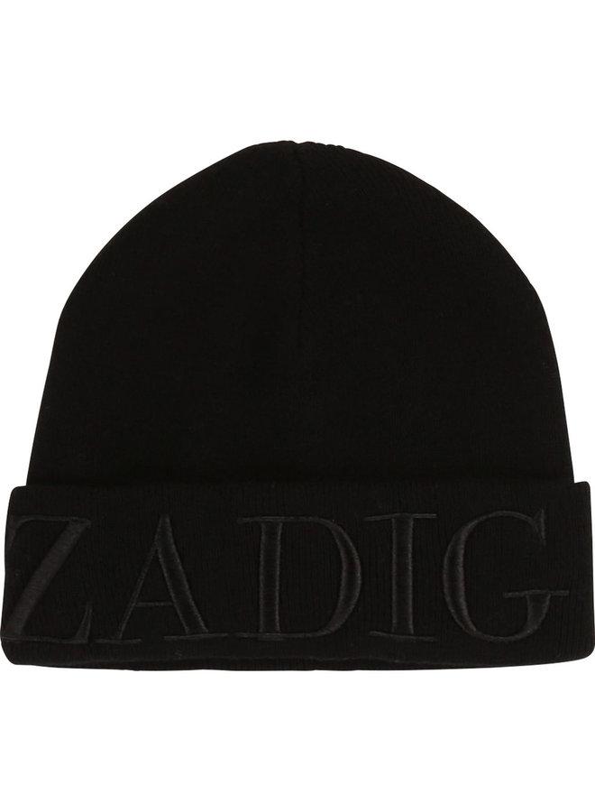 Zadig & Voltaire Kids Mütze schwarz Logo