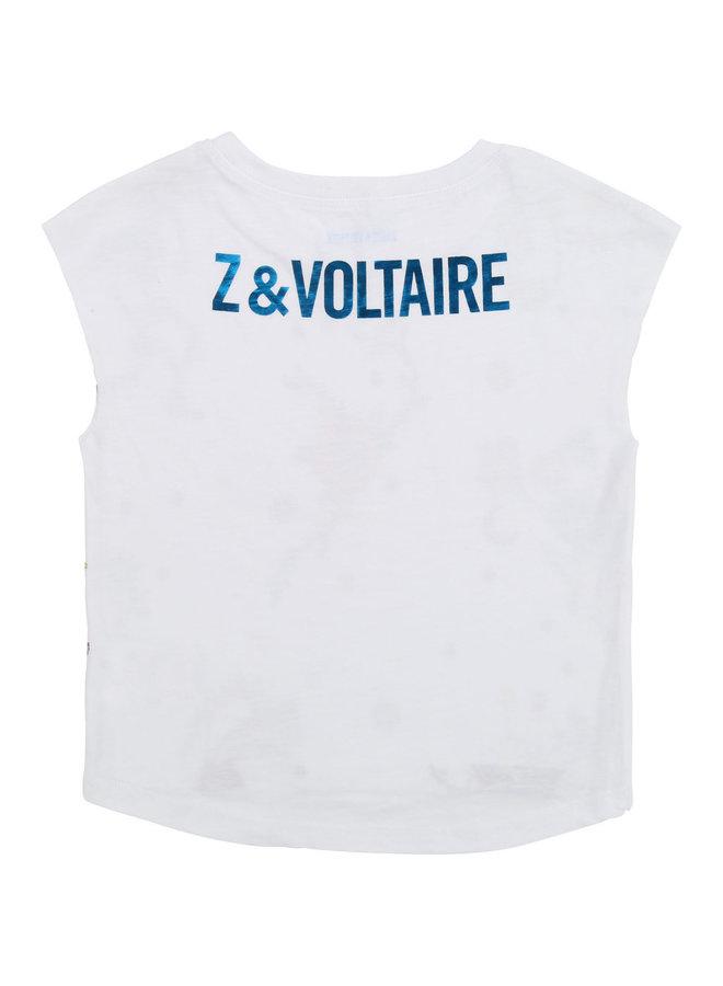 Zadig & Voltaire T-Shirt mit Rosen, Tieren und Skeletten