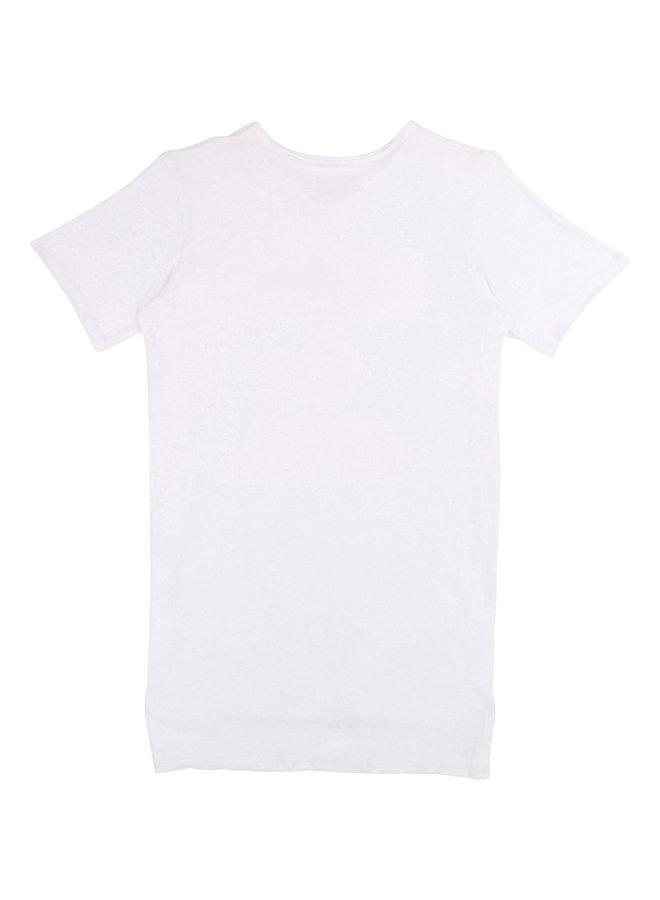 Zadig & Voltaire Shirtkleid Rock & Roll weiß