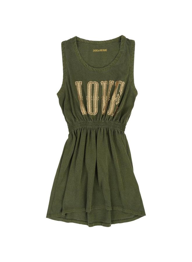 Zadig & Voltaire Kleid Love khaki gold