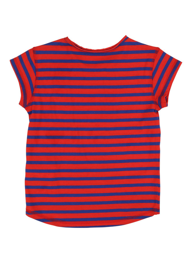 Zadig & Voltaire T-Shirt blau rot gestreift