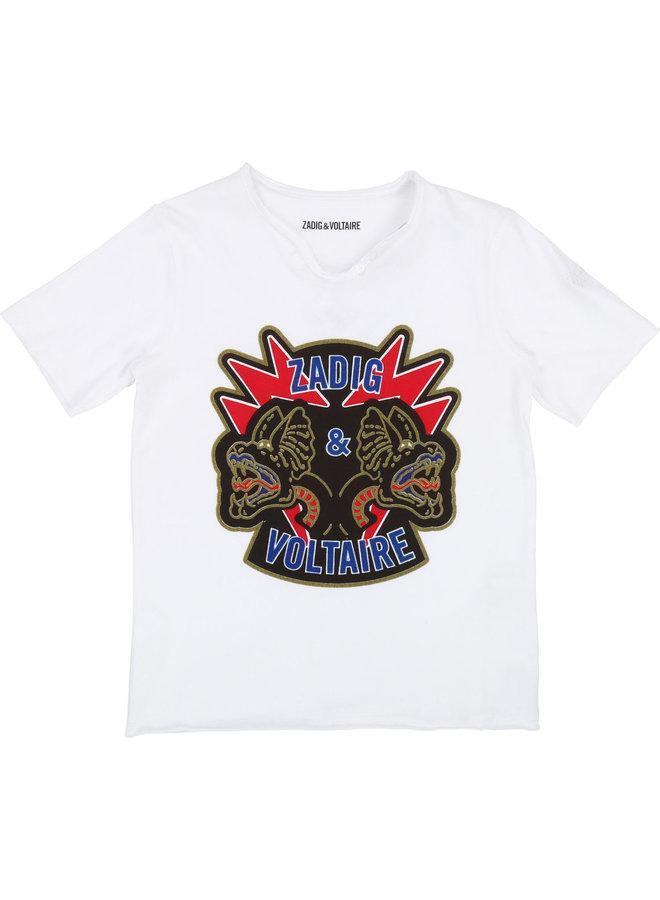 Zadig & Voltaire T-Shirt Drache weiß