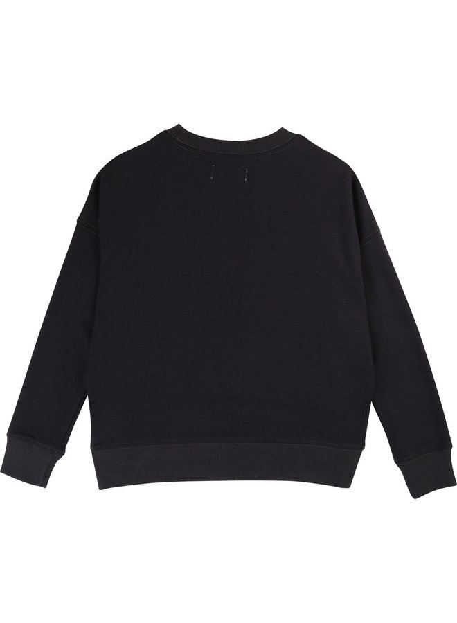 Zadig & Voltaire Sweatshirt schwarz silber metallic