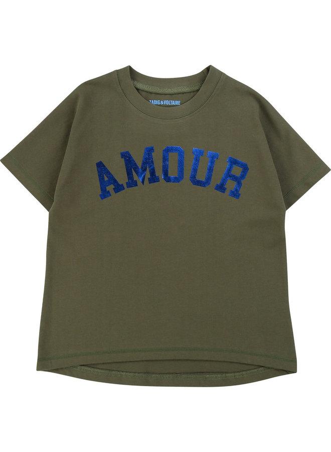 Zadig & Voltaire T-Shirt AMOUR khaki