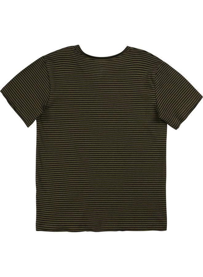 Zadig & Voltaire T-Shirt khaki schwarz gestreift Boys