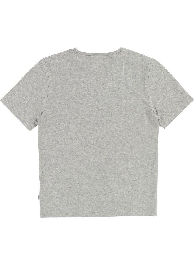 HUGO BOSS Kinder T-Shirt grau mit neon Logo