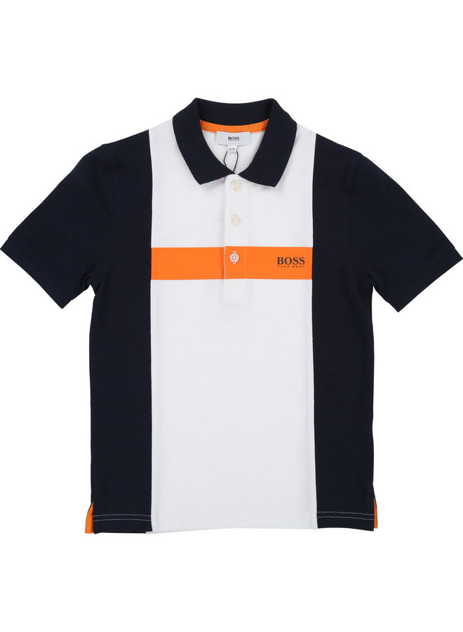 HUGO BOSS Poloshirt blau orange