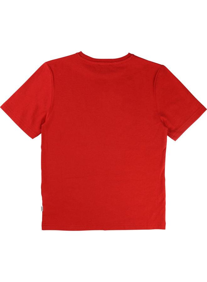 HUGO BOSS Kids T-Shirt rot mit Logo