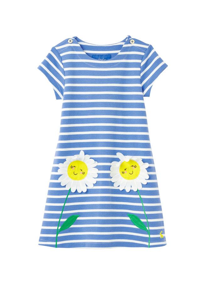 TOM JOULE Kleid Kaye blau weiß gestreift mit Blumen