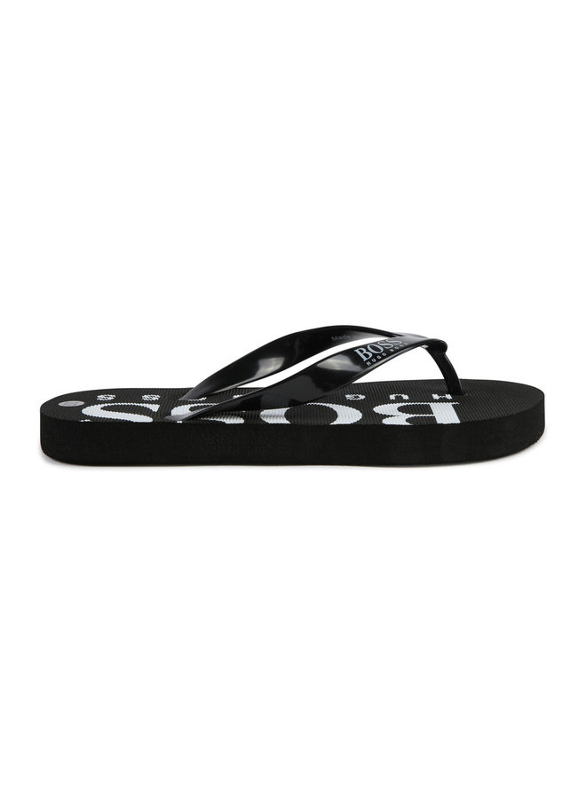 BOSS Zehentrenner Sandalen schwarz