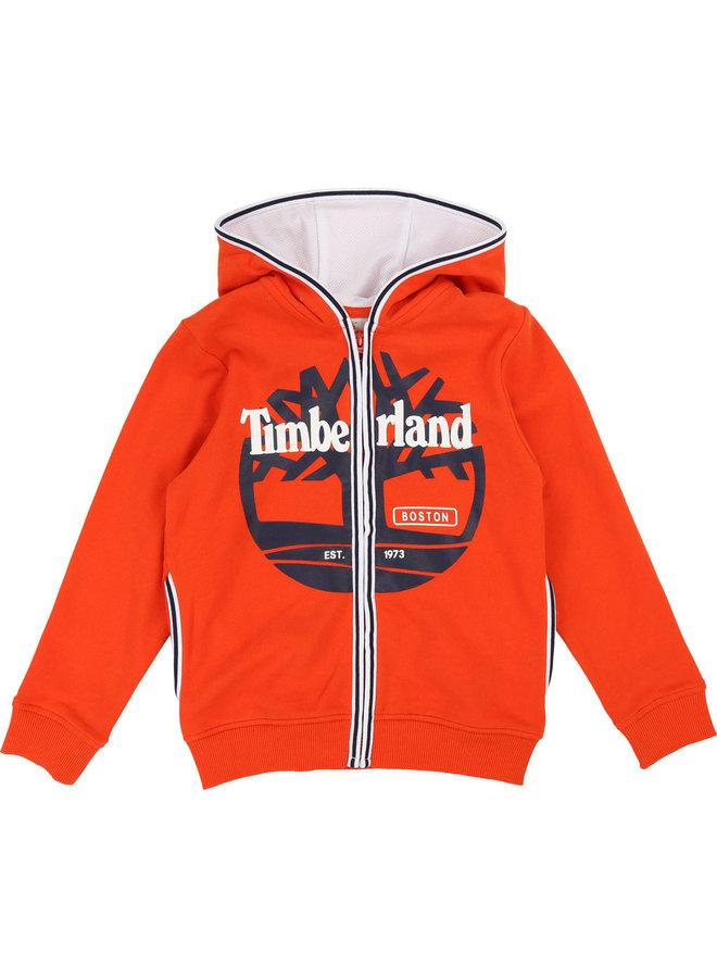Timberland Hoodie Papaya orangerot