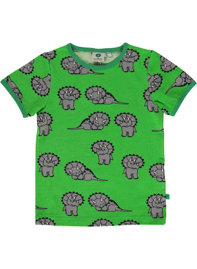 SMAFOLK T-Shirt allover Dino grün
