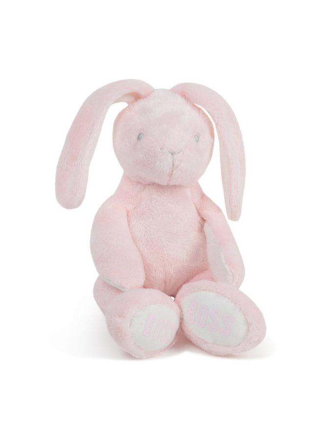Hugo Boss Kuscheltier Hase rosa mit Logoprint
