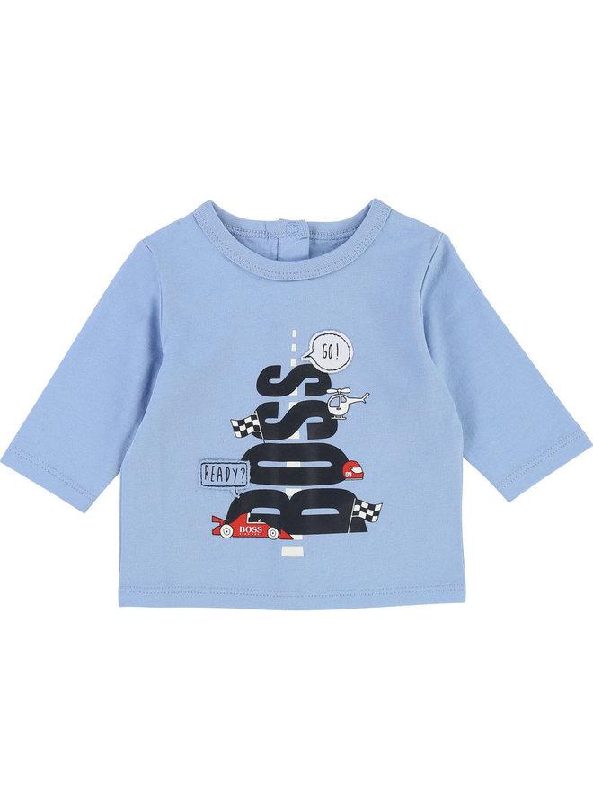 HUGO BOSS Baby Langarmshirt Race hellblau