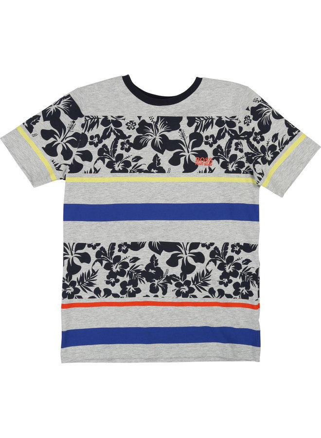 HUGO BOSS Kinder T-Shirt Hibiskus