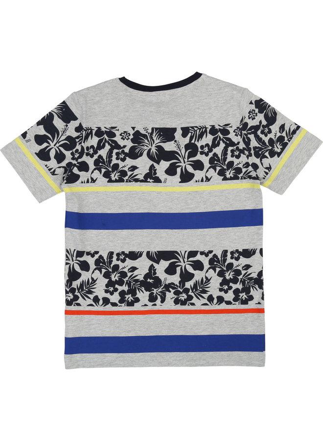 HUGO BOSS Kinder T-Shirt Hibiskus Streifen