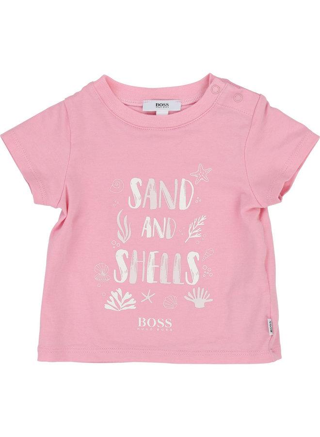 HUGO BOSS 2 er Set Baby T-Shirt rosa weiß