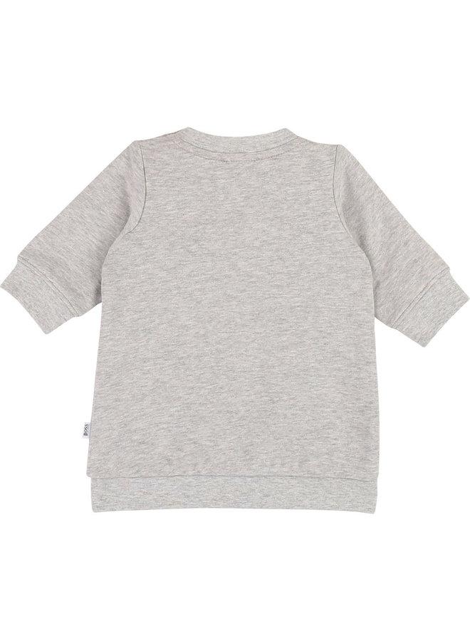 HUGO BOSS Baby Kleid grau silber