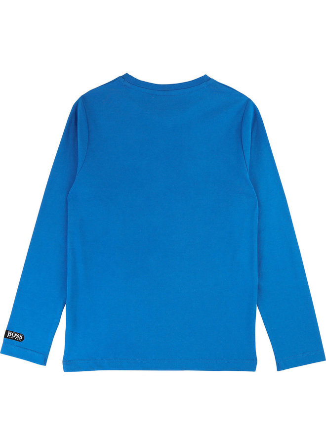 HUGO BOSS Kinder Longsleeve Lenkrad blau