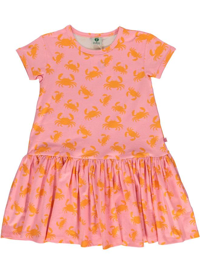 SMAFOLK Kleid rosa Krabben