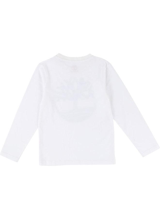 ´Timberland Langarmshirt Logo weiß