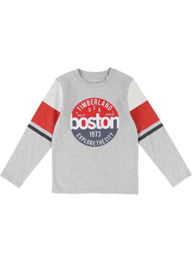 ´Timberland Langarmshirt Boston greymelange