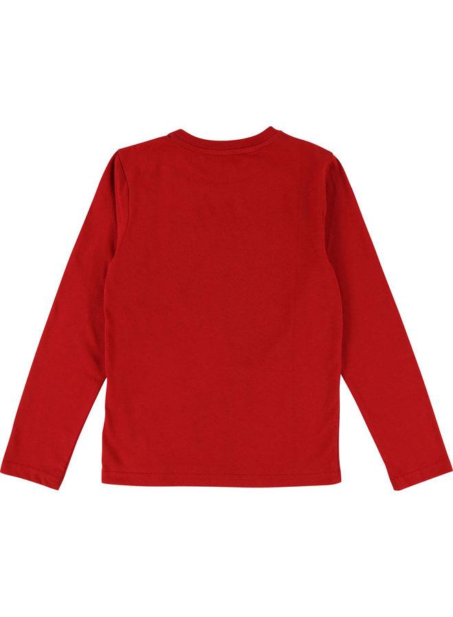 DKNY KIDS Langarmshirt rot mit Print