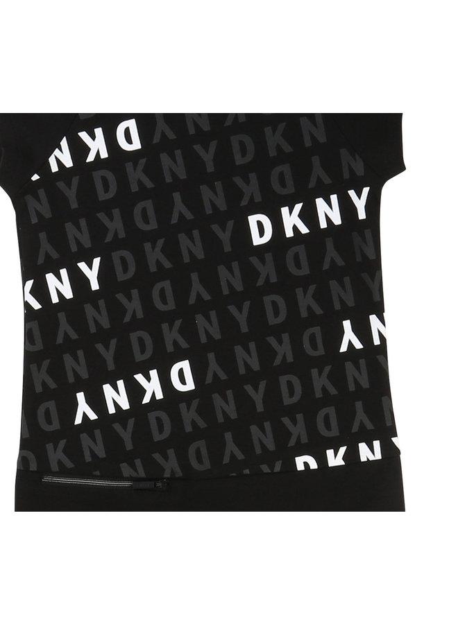 DKNY KIDS Kleid Logoprint schwarz