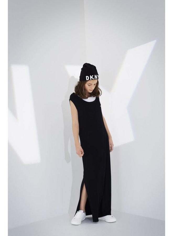 DKNY KIDS Kleid lang schwarz