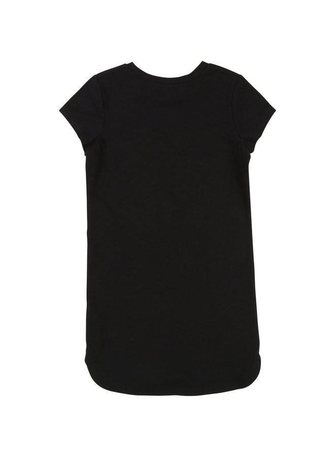 DKNY KIDS Shirt Kleid Logoprint schwarz