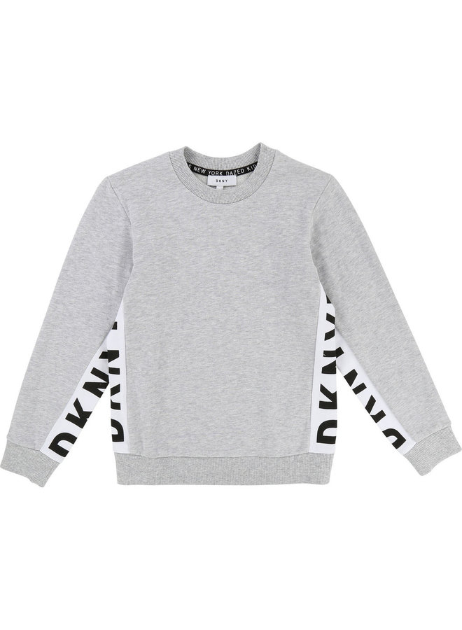 DKNY KIDS Sweatshirt grau mit Logo