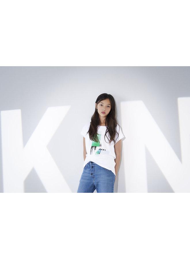 DKNY KIDS T-Shirt weiss mit Motiv