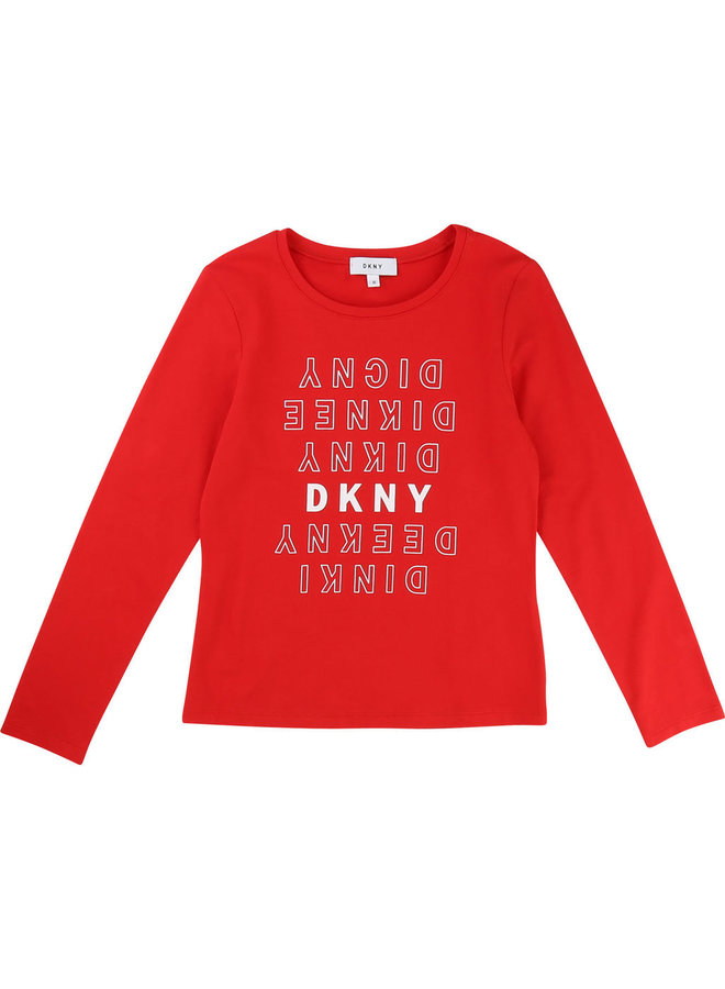 DKNY KIDS Langarmshirt Mini Me rot