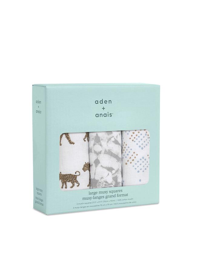 aden + anais 3 pack classic musslin squares hear me roar