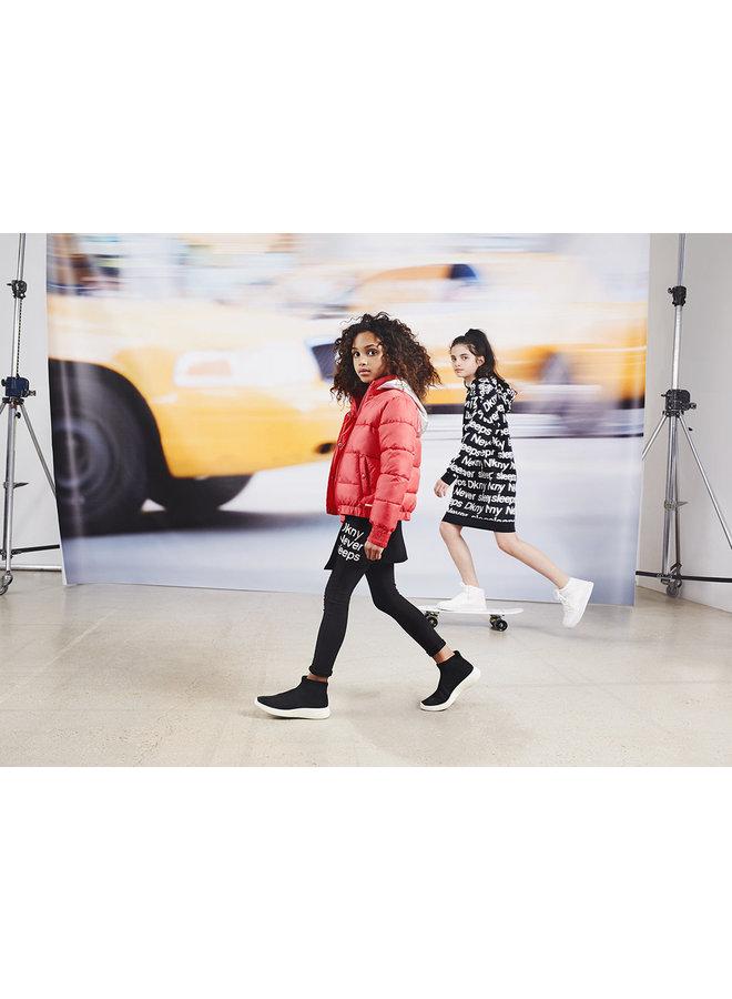 DKNY KIDS Kleid mit Allover Logo Print