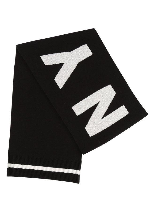 DKNY KIDS Schal schwarz mit Logo