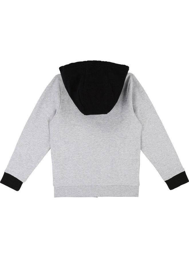 DKNY KIDS Sweatjacke grau schwarz Hoodie