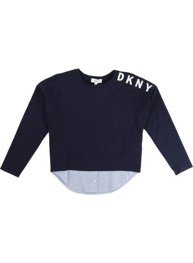 DKNY KIDS Langarmshirt navy