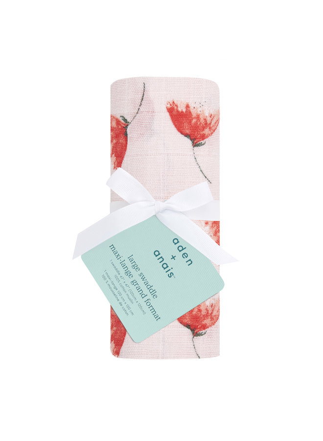aden + anais single swaddle picked for you - poppies