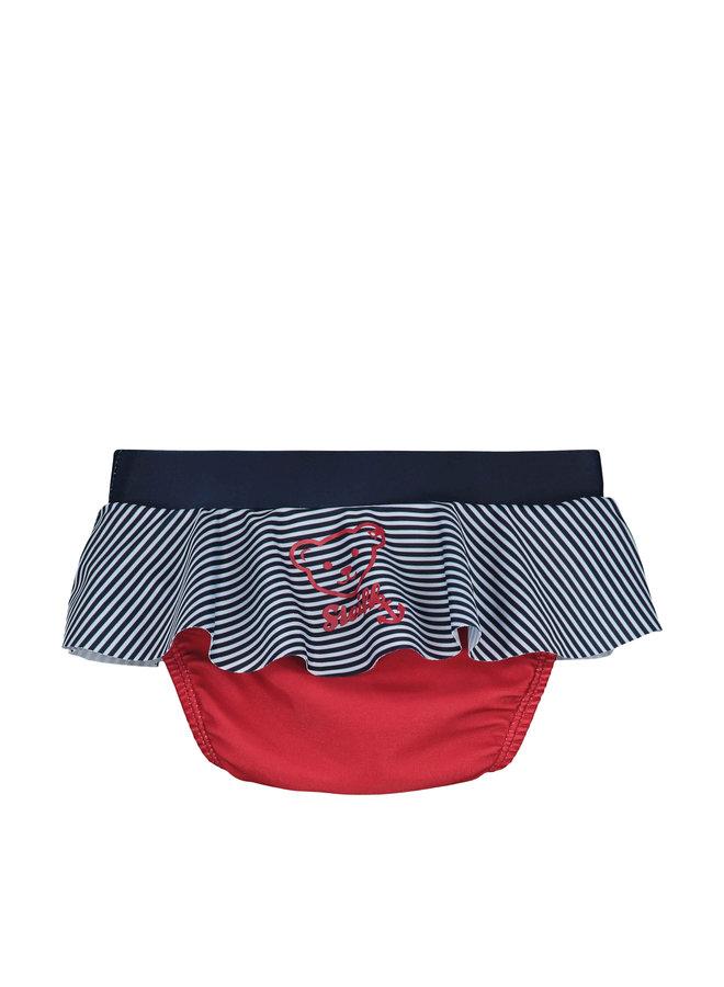 Steiff Baby Schwimmwindel Badehose Mädchen blau weiß rot