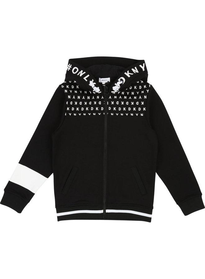 DKNY KIDS Sweatjacke schwarz Hoodie
