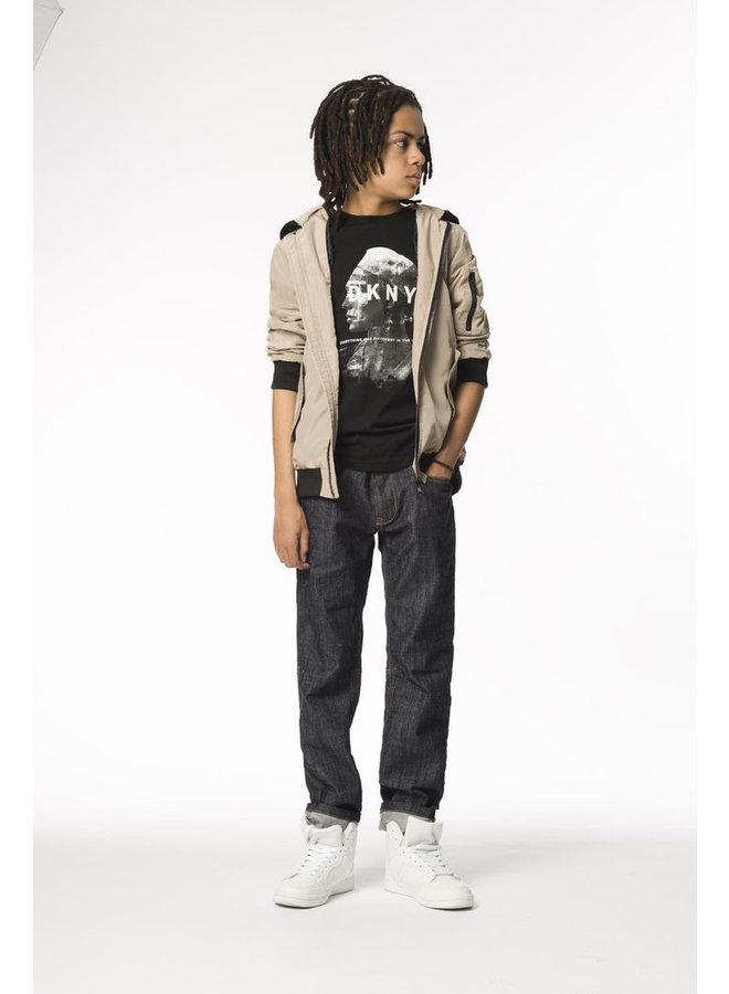 DKNY KIDS T-Shirt schwarz weiß mit Frontprint