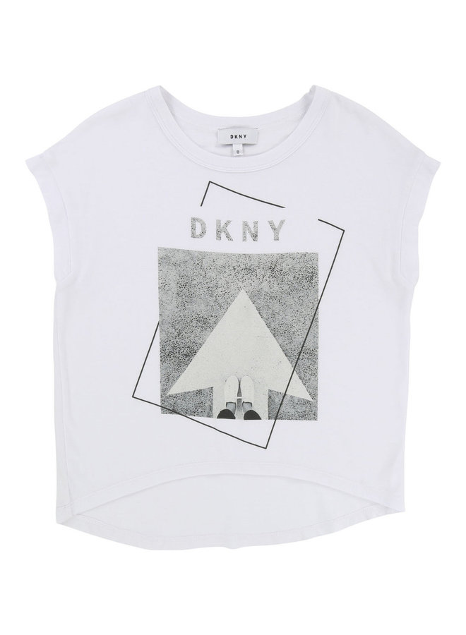 DKNY KIDS T-Shirt weiss grau mit Motiv