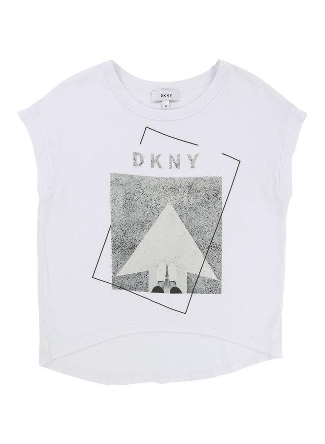 DKNY KIDS T-Shirt weiss grau